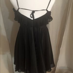 Ark & Co. Black Strappy Babydoll Mini Dress